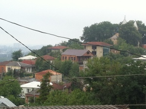 Грузия. Georgia. Вид из окон хостела. Кутаиси.