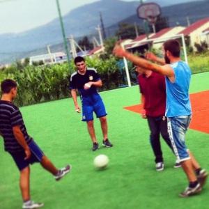Спортивная площадка в селении беженцев. Гори. Грузия.